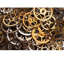 Mix of various gears, abstract technology background Photographic Print