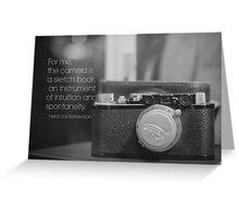 Camera Henri Cartier-Bresson Greeting Card
