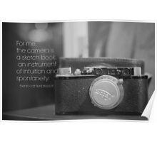 Camera Henri Cartier-Bresson Poster