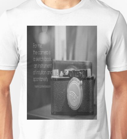 Camera Henri Cartier-Bresson Unisex T-Shirt