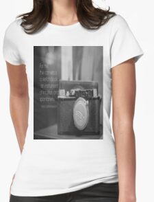 Camera Henri Cartier-Bresson Womens Fitted T-Shirt