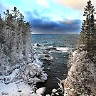 Lake Superior snowy cove Ontario Canada by Eros Fiacconi (Sooboy)