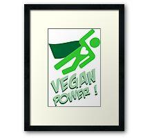 Vegan power Framed Print