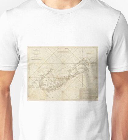 Vintage Map of Bermuda (1788) Unisex T-Shirt