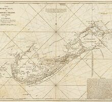 Vintage Map of Bermuda (1788) by BravuraMedia