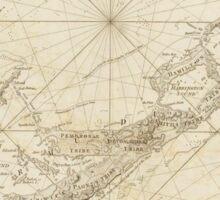 Vintage Map of Bermuda (1788) Sticker