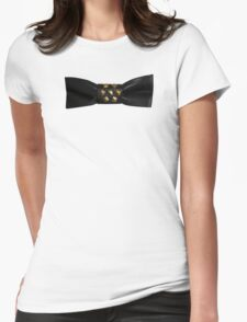 Leather Bow Womens Fitted T-Shirt