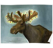 Moose for larger print Poster
