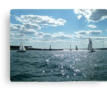 Sails in the Narragansett Bay to the Atlantic Ocean Canvas Print