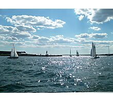 Sails in the Narragansett Bay to the Atlantic Ocean Photographic Print