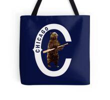 Bear with Bat_white Logo - Polygonal Tote Bag