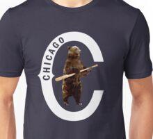 Bear with Bat_white Logo - Polygonal Unisex T-Shirt