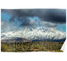 Frosty Four Peaks  Poster