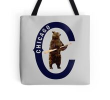 Bear with Bat - Polygonal Tote Bag