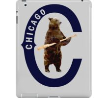 Bear with Bat - Polygonal iPad Case/Skin