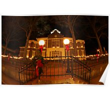 Morgan County Courthouse at Christmas Poster
