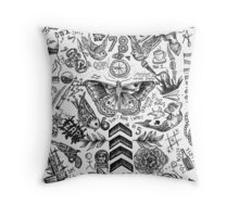 One Direction tattoos Throw Pillow