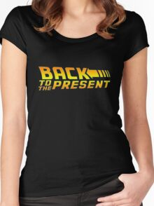 Back to the present Women's Fitted Scoop T-Shirt