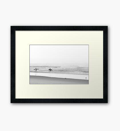 Surfing Birds Framed Print