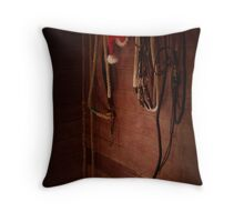 December Tackroom Throw Pillow