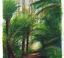 Kallista Rainforest Path by Dai Wynn