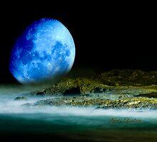 Blue Coastal Moon by flexigav
