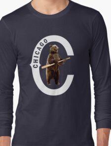 Bear with Bat-White Logo T-Shirt