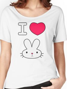 I Love Bunny Women's Relaxed Fit T-Shirt