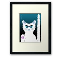 SNOWBELL THE CAT Framed Print