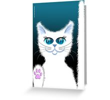 SNOWBELL THE CAT Greeting Card