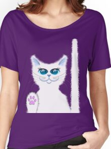 SNOWBELL THE CAT Women's Relaxed Fit T-Shirt