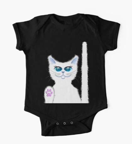 SNOWBELL THE CAT One Piece - Short Sleeve