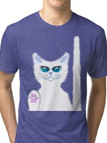 SNOWBELL THE CAT Tri-blend T-Shirt