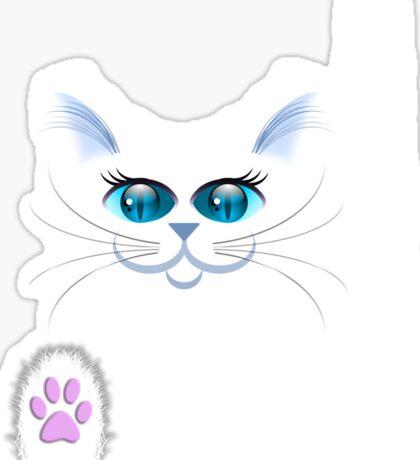 SNOWBELL THE CAT Sticker