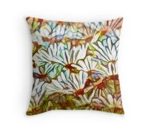 abstracted daisies Throw Pillow