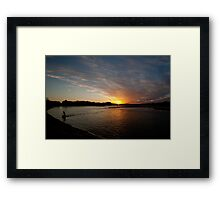 Lake Currimundi Sunset Framed Print