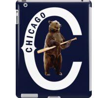 Bear with Bat-White Logo iPad Case/Skin