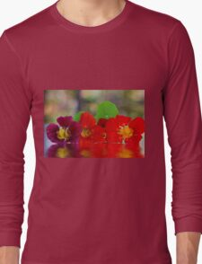 Three Nasturtiums Long Sleeve T-Shirt