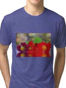 Three Nasturtiums Tri-blend T-Shirt
