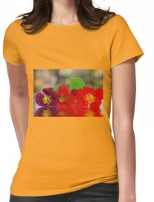 Three Nasturtiums Womens Fitted T-Shirt