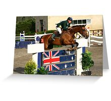 Jumping Down Under Greeting Card