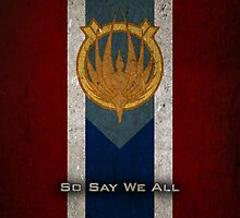 Battlestar Galactica Caprica Flag - So Say We All by Stucko23