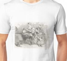 Victorian Christmas Pudding Taking 1848 Unisex T-Shirt