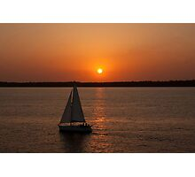 Sunset Over The New Forest Photographic Print
