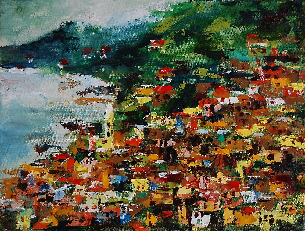 Monterosso, Cinque Terre, Italy, Europe, oil painting by andrassyp