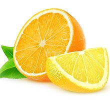 Orange and lemon slices by 6hands