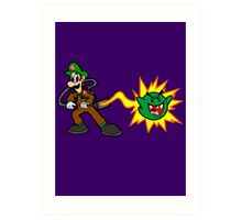 Luigi's Boo-Busters Art Print