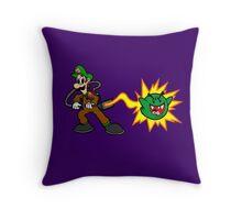 Luigi's Boo-Busters Throw Pillow