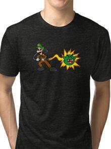 Luigi's Boo-Busters Tri-blend T-Shirt