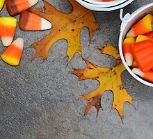 Candy corn and autumn by Dipali S